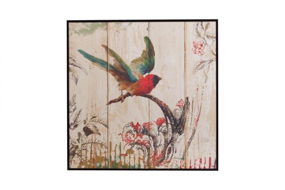 Декоративное панно NorbertДекор стен<br>Декоративное панно Norbert изготовлено из <br>деревянной пластины с нанесёнием разноцветного <br>красочного рисунка в виде птички, взлетающей <br>с ветки. Панно оригинально украсит ваш дом <br>и дополнит его яркими красками, а так же <br>повысит эмоциональное состояние, идеально <br>подойдёт для подарка.<br><br>Цвет: Разноцветный<br>Материал: Дерево<br>Вес кг: 0,8<br>Длина см: 39<br>Ширина см: 39<br>Высота см: 2