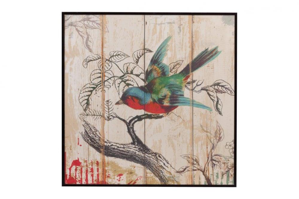 Декоративное панно NoelДекор стен<br>Декоративное панно Noel изготовлено из деревянной <br>пластины с нанесёнием разноцветного красочного <br>рисунка в виде птички, сидящей на ветке. <br>Панно оригинально украсит ваш дом и дополнит <br>его яркими красками, а так же повысит эмоциональное <br>состояние. Этот элемент декора изготовлен <br>из совершенно безопасных натуральных материалов. <br>Идеально подойдёт для подарка.<br><br>Цвет: Разноцветный<br>Материал: Дерево<br>Вес кг: 0,8<br>Длина см: 39<br>Ширина см: 39<br>Высота см: 2