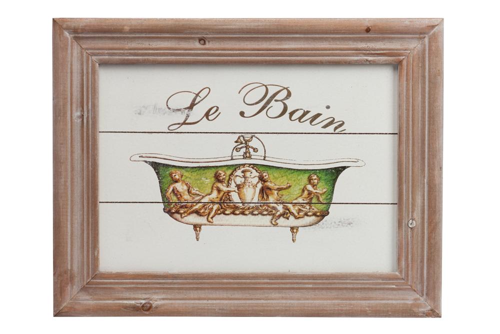 Постер ReginaldПостеры<br>Постер представлен в виде забавного рисунка <br>в разных оттенках зелёного, напечатанного <br>при помощи цифровой печати, с изображением <br>старой ванны, и деревянной, красиво состаренной <br>рамки в коричневом цвете. В композиции постера <br>изящно согласуются яркийцвет рисунка и <br>лаконичная рамка из натурального дерева <br>(ель).<br><br>Цвет: Бежевый, Зелёный, Белый<br>Материал: Дерево<br>Вес кг: 1<br>Длина см: 42<br>Ширина см: 32<br>Высота см: 2