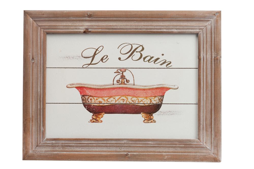 Постер FessendenПостеры<br>Постер Fessenden предсавлен в виде забавного <br>рисунка с изображением старой ванны, напечатанного <br>при помощи цифровой печати, и деревянной, <br>красиво состаренной рамки, в коричневом <br>цвете. В композиции постера изящно согласуются <br>яркий цвет рисунка и лаконичная рамка из <br>натурального дерева (ель).<br><br>Цвет: красный, коричневый, бежевый<br>Материал: Дерево<br>Вес кг: 1<br>Длина см: 42<br>Ширина см: 32<br>Высота см: 2