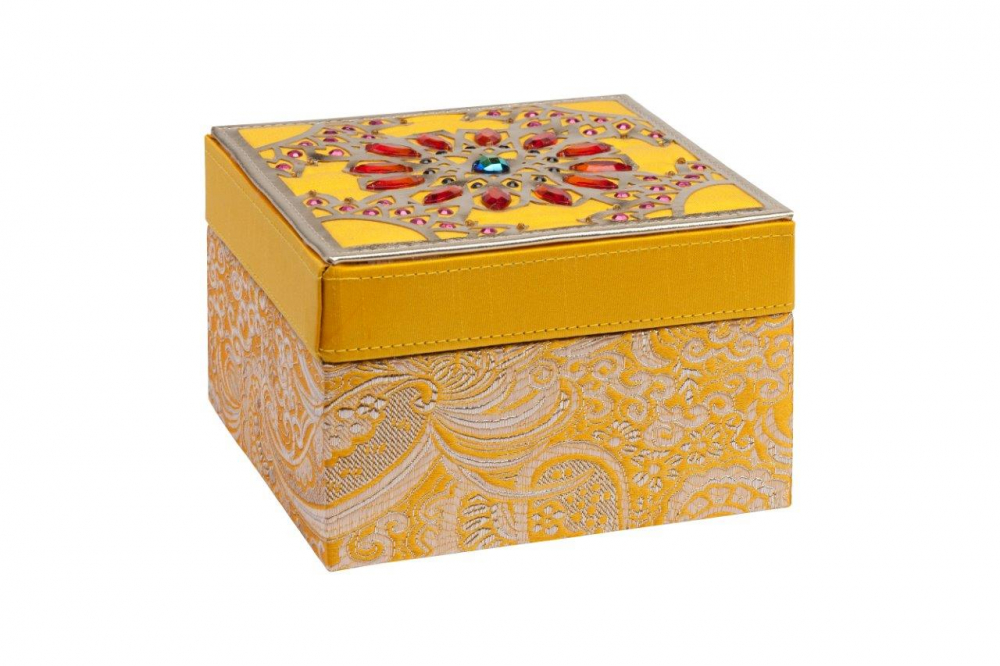 Фото Декоративная шкатулка Blossom Yellow. Купить с доставкой