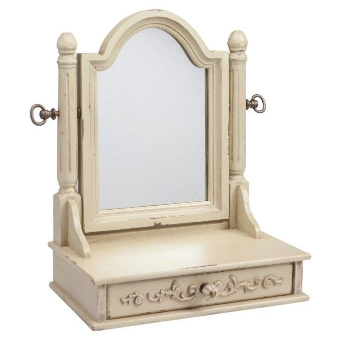 Зеркало настольное Vanessa Beige