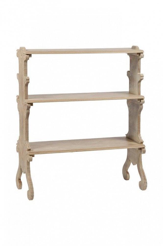 Мини-стеллаж BradwinСтеллажи<br>Деревянный мини-стеллаж, сделанный из натурального <br>дерева (ель), с винтажными ножками и тремя <br>полочками, необходимый аксессуар для дома. <br>На стеллаже можно разместить несколько <br>предметов декора, это подчеркнет красоту <br>любого стиля интерьера<br><br>Цвет: Бежевый<br>Материал: Дерево<br>Вес кг: 12<br>Длина см: 81<br>Ширина см: 37<br>Высота см: 96