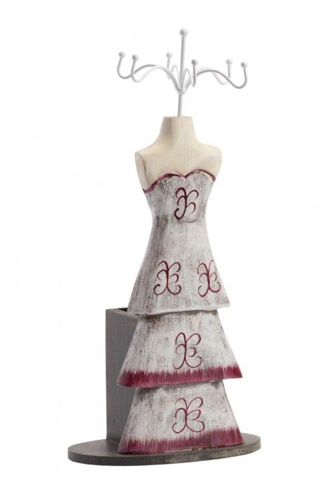 Подставка для украшений Giovanna WhiteШкатулки и подставки для украшений<br>Подставка для украшений Giovanna (белая) изготовлена <br>в строгом современном стиле из дерева и <br>металла, в виде женского манекена, в приглушенной <br>цветовой гамме, что подчеркнет красоту <br>украшений.<br><br>Цвет: Белый, Красный, Серый<br>Материал: Дерево, Металл<br>Вес кг: 0,3<br>Длина см: 30<br>Ширина см: 8<br>Высота см: 8