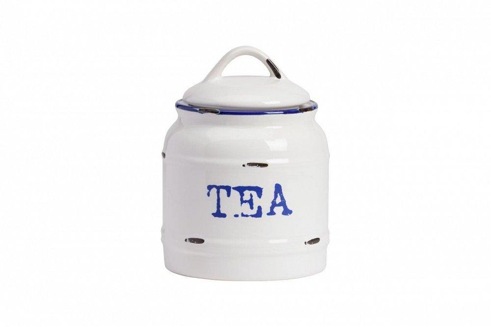 Емкость для хранения Thomasina Tea Grande, DG-D-1047-2Кухонные принадлежности<br>Ёмкость для хранения Thomasina Tea Grande выполнена из керамики, покрытой глазурью белого цвета. Декорирована надписью синего цвета TEA. Крышка снабжена удобной ручкой. ёмкость изготовлена из совершенно безопасного натурального материала. Чай, который вы будете хранить в этой банке, никогда не утратит своей свежести. Полный набор банок из коллекции Thomasina обязательно должен быть на кухне любой хозяйки дома.<br><br>Цвет: Белый, синий<br>Материал: Керамика<br>Вес кг: 2.6<br>Длинна см: 14<br>Ширина см: 14<br>Высота см: 19