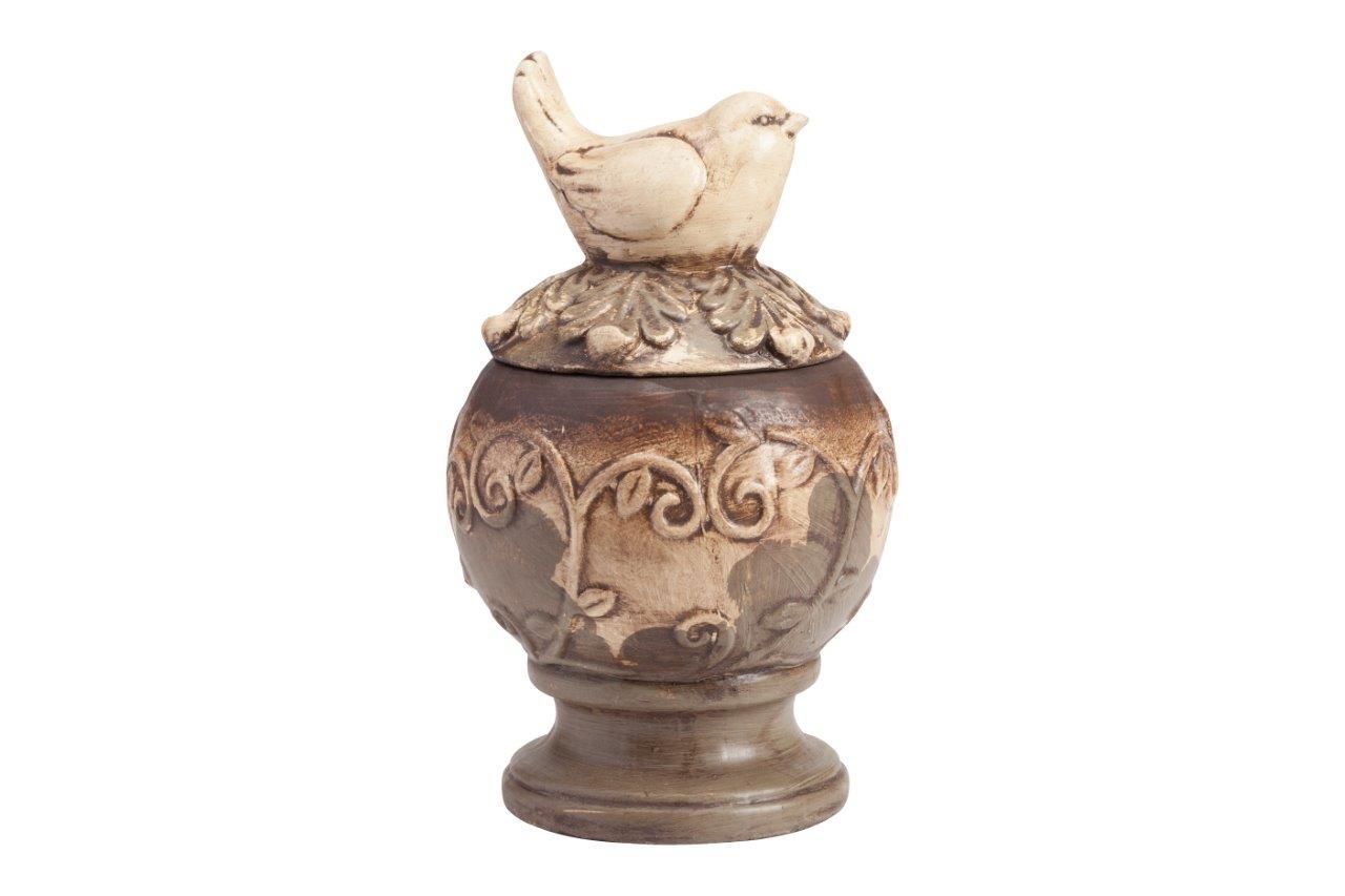 Купить Предмет декора статуэтка птичка на шаре Colton Grande в интернет магазине дизайнерской мебели и аксессуаров для дома и дачи