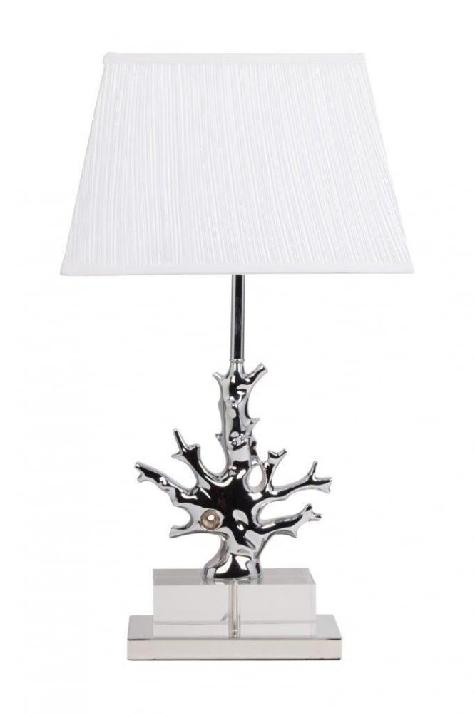 Настольная лампа Fabriano Blanc DG-HOME Настольная лампа Fabriano Blanc изготовлена на  изящной платформе, корпус декорирован хрусталем  и белым гофрированным тканевым абажуром.  Лампа прекрасно дополнит любой интерьер  и создаст особую приятную расслабляющую  обстановку. Предназначена для использования  со светодиодными лампами. Размеры основания:  длина 35 см, ширина 28 см.