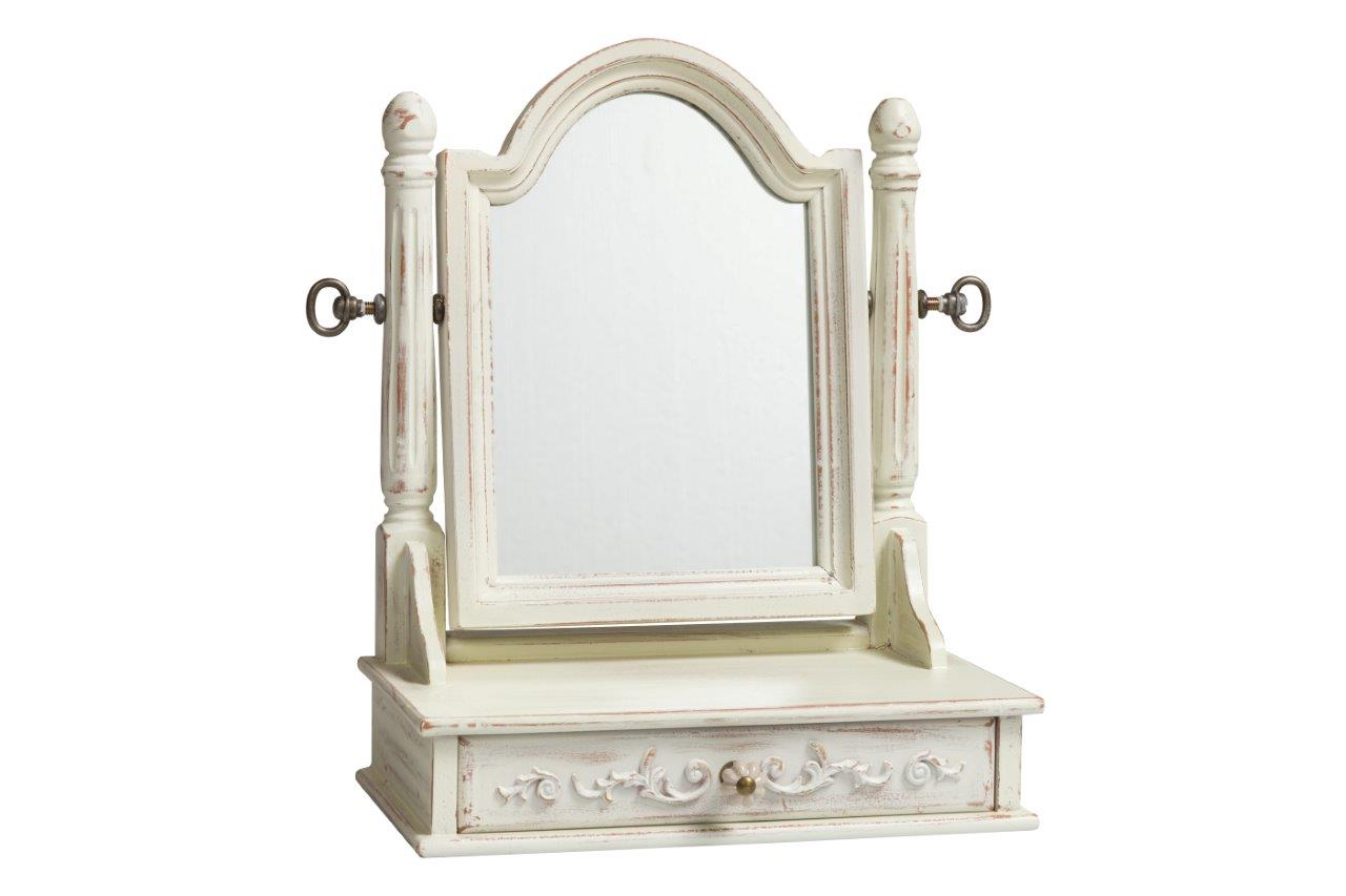 Купить Зеркало настольное Vanessa Creme в интернет магазине дизайнерской мебели и аксессуаров для дома и дачи