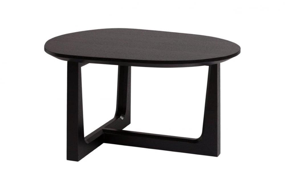 Кофейный столик JimmyКофейные и журнальные столы<br>Этот изящный кофейный столик сочетает <br>в себе сдержанный цвет и минимализм современного <br>стиля, а необычная форма столешницы и полная <br>ассиметричность — стиля модерн. Элегантная <br>ножка оригинальной формы подчеркивает <br>его невесомость и легкость. И формой, и цветом <br>он сам напоминает кофейное зернышко, вызывая <br>желание выпить чашечку крепкого ароматного <br>напитка. Такой стол будет отлично смотреться <br>как в офисе, так и в просторной квартире-студии.<br><br>Цвет: Чёрный<br>Материал: Дерево, МДФ<br>Вес кг: 7<br>Длина см: 58<br>Ширина см: 46,8<br>Высота см: 32