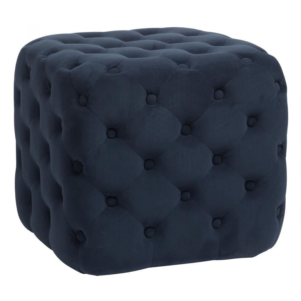 Пуф Tutti Синий ВелюрПуфы и оттоманки<br>Пуф Tutti — надежный и долговечный вариант <br>с жестким деревянным (береза) каркасом, <br>мягким сиденьем из мебельного поролона, <br>выполнен в виде небольшого куба, обивка <br>из темно-синего велюра в технике капитоне <br>(отделка декоративными кожаными пуговицами), <br>что придает пуфу роскошную викторианскую <br>элегантность.<br><br>Цвет: Синий<br>Материал: Поролон, Ткань<br>Вес кг: 7<br>Длина см: 47<br>Ширина см: 47<br>Высота см: 45