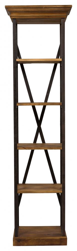 Стеллаж Praline DG-HOME Высокий открытый стеллаж Praline — универсальный  и комфортный предмет мебели для современного  стильного интерьера. Металлическая часть  создана с элементами старения, краска нанесена  специально грубовато, а на сосновых полочках,  покрытых специальным лаком, явно проступает  текстура древесины. Особенная конструкция  стеллажа Praline с элементами состаривания  прекрасно подойдет для поклонников стиля  Шебби шик. Небольшие габариты стеллажа  позволяют устанавливать его в любом помещении  дома. Искусно разработанная дизайнерами  форма данной модели и качественные применяемые  материалы делают этот стеллаж удобным в  эксплуатации. Высокий и в тоже время компактный  внешний вид, своеобразный дизайн, высокая  износостойкость.