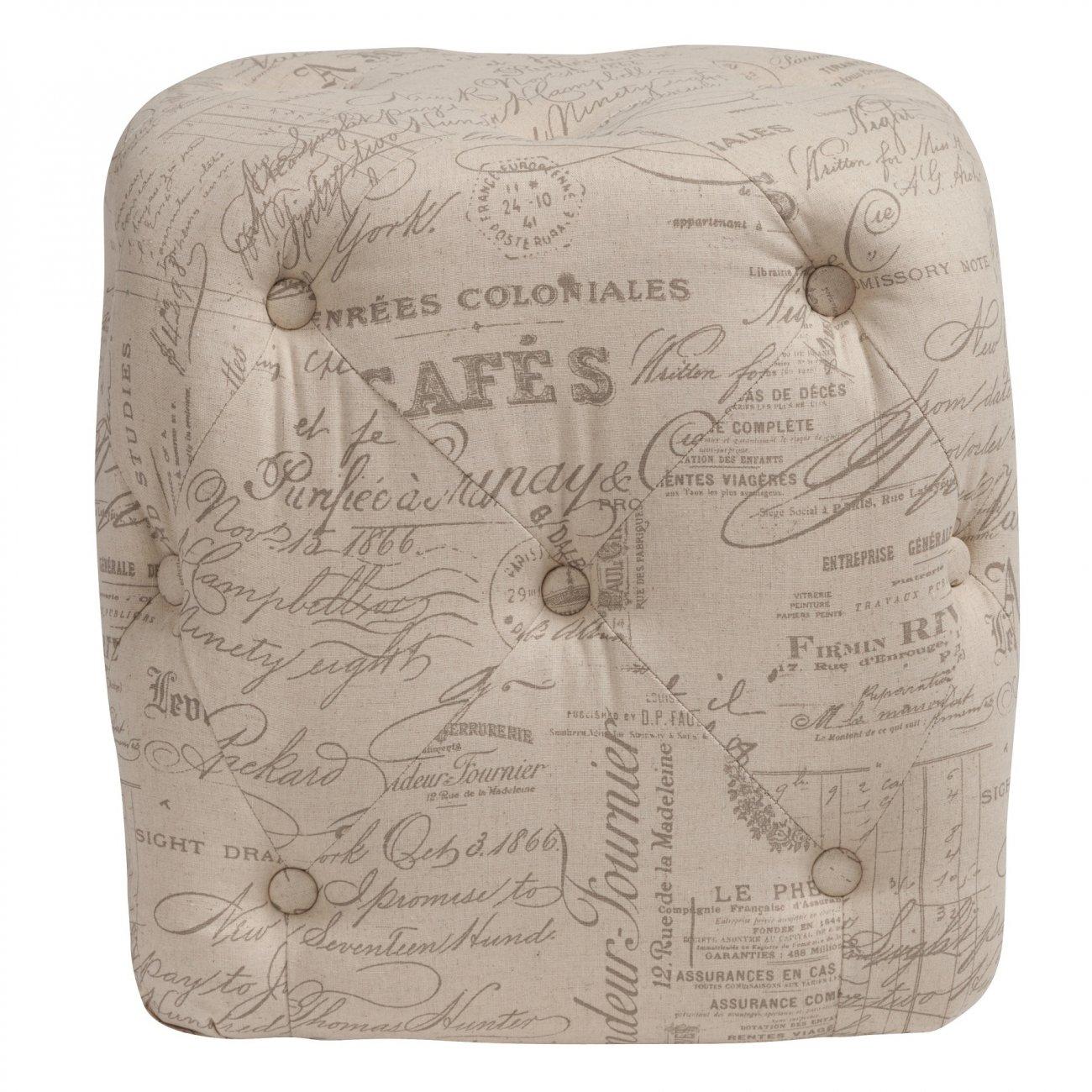 Купить Пуф Manele Gris Flax в интернет магазине дизайнерской мебели и аксессуаров для дома и дачи