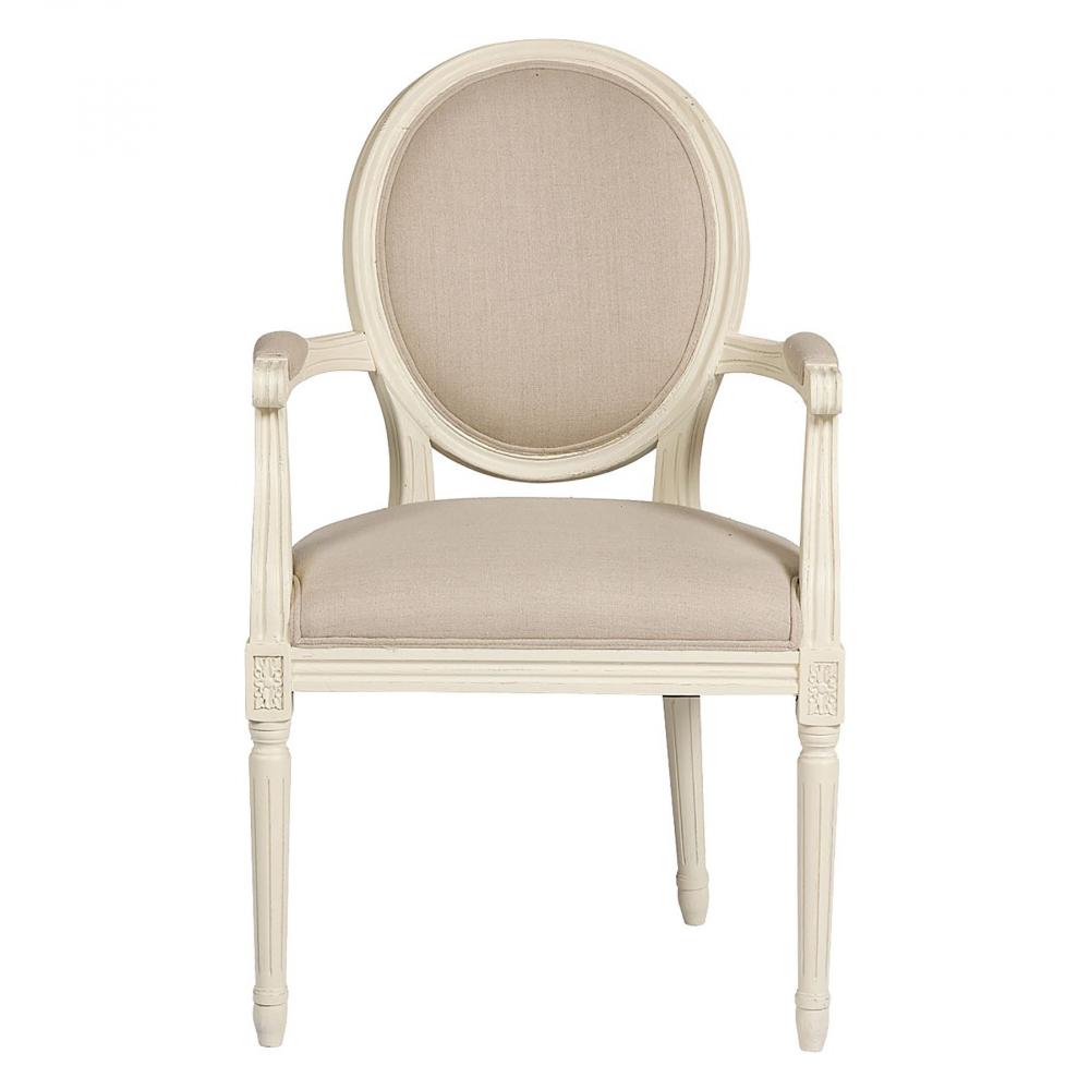 Кресло Vintage French Round Кремовый Лен, DG-F-ACH437