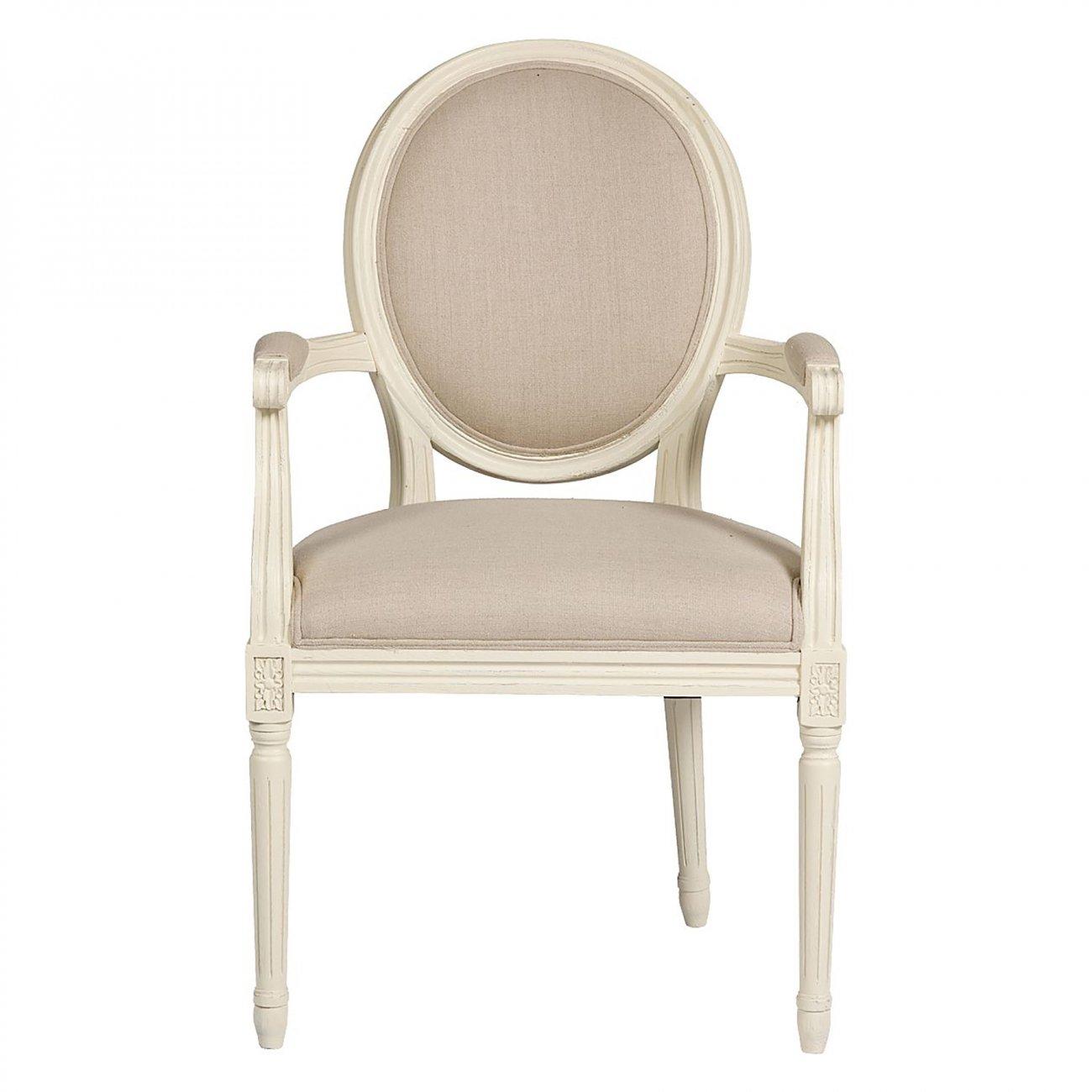 Купить Кресло Vintage French Round Кремовый Лен в интернет магазине дизайнерской мебели и аксессуаров для дома и дачи