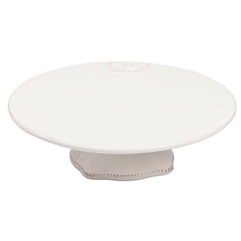Тарелка для сладостей Cake StandСервировка стола<br>Тарелка для сладостей Cake Stand изготовлена <br>из керамики белого цвета, по краю декорирована <br>небольшим рельефным рисунком. Красивая <br>и устойчивая ножка тарелки, окантованная <br>рельефным точечным орнаментом светло-коричневого <br>цвета. Тарелку можно приобрести как отдельно, <br>так и в дополнение к другим предметам этой <br>же коллекции.<br><br>Цвет: Белый<br>Материал: Грубая керамика<br>Вес кг: 1,2<br>Длина см: 35<br>Ширина см: 35<br>Высота см: 5