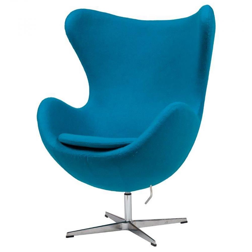 Кресло Egg Chair Голубое 100% Кашемир