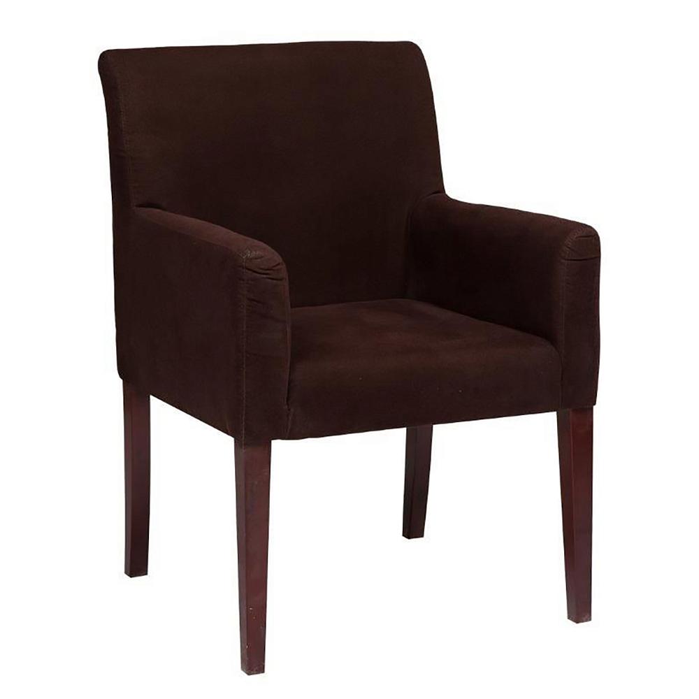 Кресло Molly Dark Brown, DG-F-ACH459Кресла<br>Мягкая мебель для офиса — это не только диваны, кресла и пуфы для посетителей или отдыха сотрудников. Не меньшее значение имеют офисные стулья и кресла. Кресло Molly — это мебель, которая создает комфортные условия для персонала, защищает от переутомления при сидячей работе.<br>Для обивки использовался мягкий уютный велюр. Темно-коричневый цвет — это выбор благородных натур. Кресло Molly выполнено именно в таком цвете и смотрится действительно внушительно и стильно. Предметы интерьера, грамотно подобранные с точки зрения стиля, формата исполнения и цвета, создают благоприятное впечатление на клиента или партнера.<br>С виду абсолютно простое, в то же время удобное и очаровательное кресло Molly также станет прекрасным украшением любой комнаты вашего дома, внося частичку тепла и уюта.<br><br>Цвет: Коричневый<br>Материал: Дерево, Велюр<br>Вес кг: 15<br>Длинна см: 73<br>Ширина см: 70<br>Высота см: 93