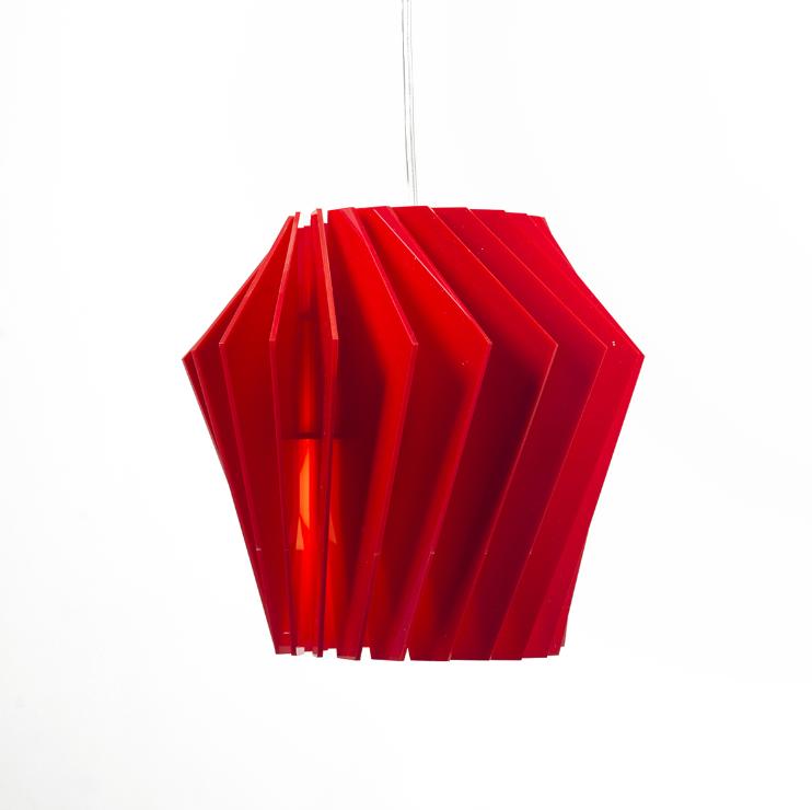 """Подвесной светильник """"Турболампа"""" средний Красный"""