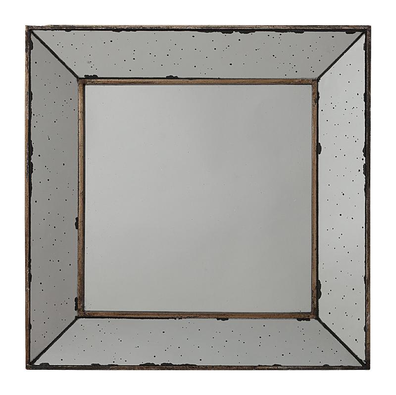 Зеркало ThrushЗеркала<br>Оригинальное зеркало способно создать <br>хорошее настроение, новое впечатление, <br>подчеркнуть или полностью изменить интерьер <br>вашего дома. Стильное квадратное зеркало <br>Thrush имеет современный вид благодаря его <br>граненым краям с отделкой тонким золотым <br>ободком, будет отлично смотреться над туалетным <br>столиком, раковиной или над камином. Может <br>быть идеальным свадебным подарком или подарком <br>на новоселье, не менее круто будет смотреться <br>и в спальне подростка.<br><br>Цвет: Серый, Золото<br>Материал: МДФ, Зеркало<br>Вес кг: 3,1<br>Длина см: 46<br>Ширина см: 4<br>Высота см: 46