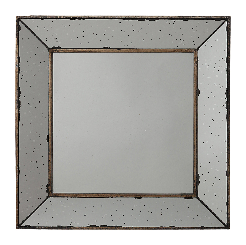 Зеркало ThrushЗеркала<br><br><br>Цвет: Серый, Золото<br>Материал: МДФ, Зеркало<br>Вес кг: 3,1<br>Длина см: 46<br>Ширина см: 4<br>Высота см: 46