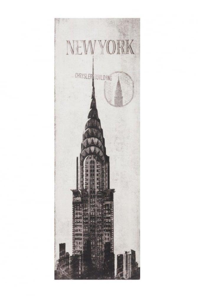 Декоративная настенная панель Chrysler BuildingДекор стен<br>Декоративные настенные панели — идеальный <br>выбор для реализации интересных идей при <br>обновлении интерьера и обустройстве вашего <br>дома. Настенная панель Chrysler Building с изображением <br>небоскрёба корпорации Chrysler, построенного <br>в 1930 году, одного из символов Нью-Йорка, <br>прекрасно впишется в любой интерьер, как <br>классический, так и современный.<br><br>Цвет: Серый<br>Материал: МДФ<br>Вес кг: 2,5<br>Длина см: 29,97<br>Ширина см: 3,05<br>Высота см: 89,92
