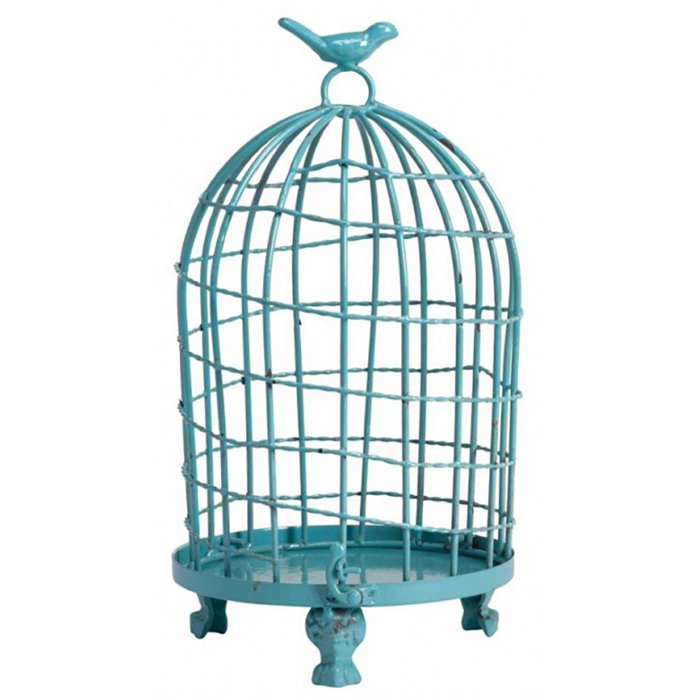 Декоративная клетка Articoli Grande BlueДекор стен<br>Декоративная клетка Articoli Grande голубого <br>цвета — изготовлена из никелированнного <br>металла со съемным днищем. Ручка декорирована <br>маленькой птичкой. Данный аксессуар в стиле <br>Прованс можно использовать в зависимости <br>от вашей фантазии в оформлении любого интерьера. <br>Оставить её пустой или запереть что-либо <br>внутрь, поставить на хранение — в этом вы <br>вольны сделать свой выбор. Ясно одно — этот <br>элемент декора однозначно привлечет внимание <br>ваших гостей.<br><br>Цвет: Голубой<br>Материал: Металл<br>Вес кг: 0,6<br>Длина см: 18<br>Ширина см: 18<br>Высота см: 34