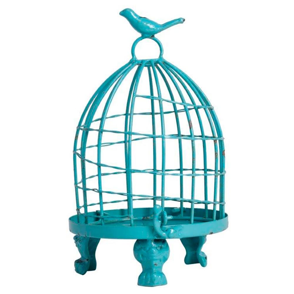 Декоративная клетка Articoli Piccolo BlueДекор стен<br>Декоративная клетка Articoli Piccolo голубого <br>цвета — изготовлена из никелированнного <br>металла со съемным днищем. Ручка декорирована <br>маленькой птичкой. Данный аксессуар в стиле <br>Прованс можно использовать в зависимости <br>от вашей фантазии в оформлении любого интерьера. <br>Оставить её пустой или запереть что-либо <br>внутрь, поставить на хранение — в этом вы <br>вольны сделать свой выбор. Ясно одно — этот <br>элемент декора однозначно привлечет внимание <br>ваших гостей.<br><br>Цвет: Голубой<br>Материал: Металл<br>Вес кг: 0,5<br>Длина см: 15<br>Ширина см: 15<br>Высота см: 24