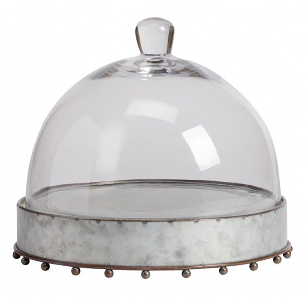 Сервировочный поднос с куполом Baguette GrandeСервировка стола<br>Круглый сервировочный поднос со стеклянным <br>куполом Baguette Grande применим для подачи блюд <br>заданной температуры. Корпус сделан из <br>металла в сером и коричневом цвете. Практичный <br>и красивый дизайн позволит подать к столу <br>изысканные блюда или напитки. Можно использовать <br>как дома, так и в ресторане или кафе.<br><br>Цвет: Прозрачный, Серебро, Коричневый<br>Материал: Металл, Стекло<br>Вес кг: 1,4<br>Длина см: 26,67<br>Ширина см: 26,67<br>Высота см: 25,4