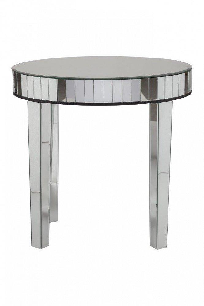 Зеркальный журнальный столик Arabeska GrandeКофейные и журнальные столы<br>Шикарный зеркальный столик Arabeska — это <br>роскошный предмет интерьера, полностью <br>декорированный зеркалом, начиная от столешницы <br>и заканчивая ножками. Он не только украсит <br>любую комнату вашего дома, но и привнесет <br>в нее еще больше уюта и тепла. Кроме того, <br>отражая детали интерьера, он гармонично <br>вписывается в помещение, оформленное в <br>любом стиле.<br><br>Цвет: Зеркальный<br>Материал: МДФ, Зеркало<br>Вес кг: 12,2<br>Длина см: 60<br>Ширина см: 60<br>Высота см: 70