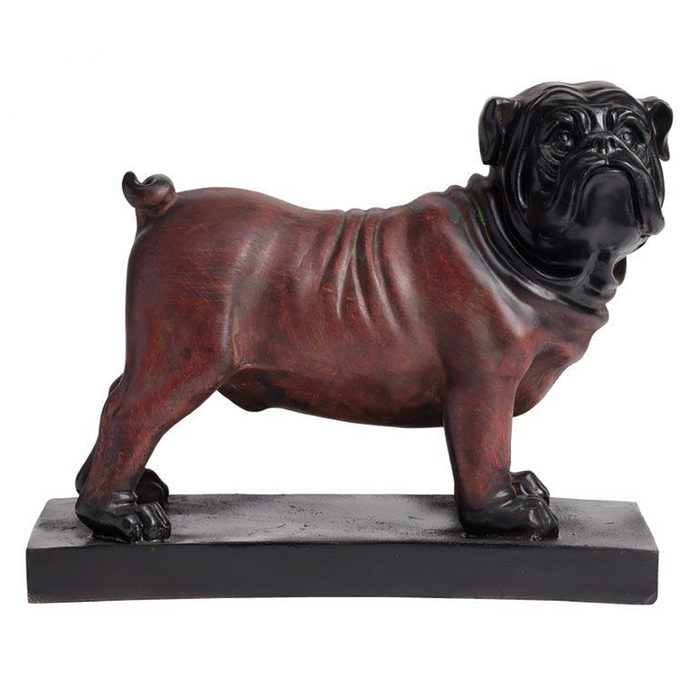 Предмет декора статуэтка собака BulldogСтатуэтки<br>Красивая керамика способна вдохнуть новую <br>жизнь в любой дизайн. Элемент декора Bulldog, <br>выполненный из керамики в виде фантастически <br>реалистичного английского бульдога, непременно <br>станет украшением интерьера вашего дома. <br>Купите его в подарок любителю собак — он <br>будет очень тронут таким вниманием.<br><br>Цвет: Коричневый<br>Материал: Керамика<br>Вес кг: 0,7<br>Длина см: 23,88<br>Ширина см: 10,92<br>Высота см: 19,05