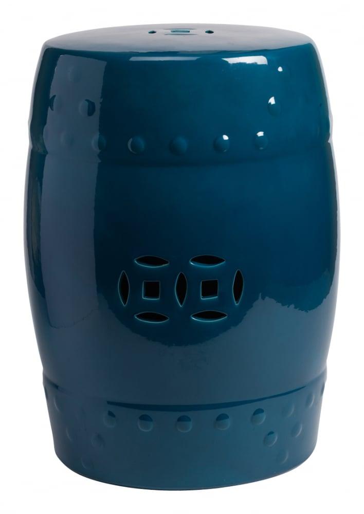 Керамический столик-табурет Garden Stool Синий DG-HOME Оригинальный керамический столик-табурет  в форме бочонка. Это предмет мебели, который  сочетает в себе сразу две функции — его  можно использовать и как стол, на который  можно поставить чашку чая и положить газету,  и как табурет, на который можно присесть.  Все зависит только от вашего желания. Примечательно,  что эта модель выполнена не из дерева, как  следовало бы ожидать, а из грубой керамики,  покрытой глазурью. Его боковую поверхность  украшает резной орнамент, а изысканный  тёмно-синий цвет отлично сочетается со  многими яркими цветами в интерьере любого  стиля. Хотите больше приятных эмоций —  купите столь необычный и и функциональный  предмет для своего интерьера.