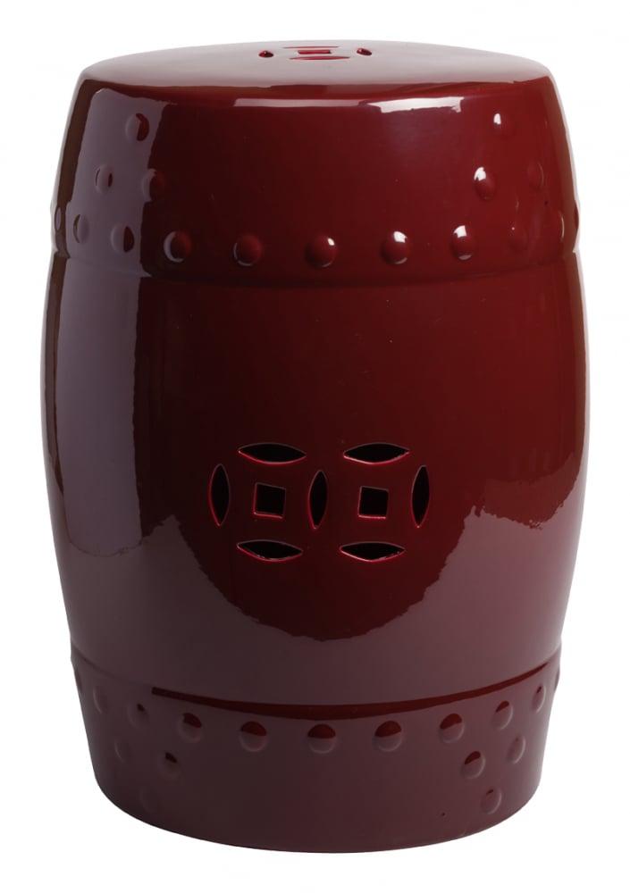 Фото Керамический столик-табурет Garden Stool Бордовый. Купить с доставкой