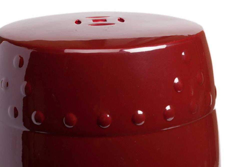 Керамический столик-табурет Garden Stool БордовыйТест