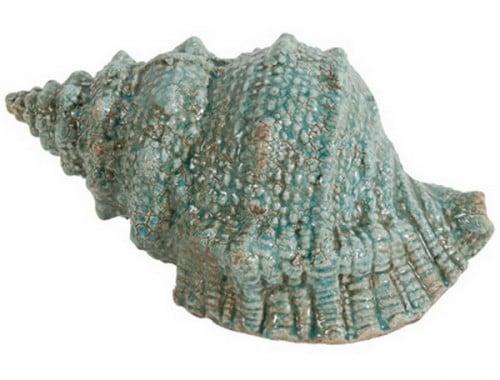 Предмет декора статуэтка ракушка SeashellСтатуэтки<br>Элемент декора Seashell непременно привлечет <br>взгляды ценителей изысканных и очаровательных <br>вещей. Эта оригинальная ракушка аквамаринового <br>цвета, изготовленная из керамики, украсит <br>собой полку камина в гостиной или кухню, <br>уютную спальню или деловой кабинет. Другими <br>словами, аксессуар удачно впишется в любой <br>интерьер, даря ему очарование моря, лоск <br>и роскошь.<br><br>Цвет: Голубой<br>Материал: Керамика<br>Вес кг: 0,9<br>Длина см: 27,94<br>Ширина см: 17,02<br>Высота см: 13,97