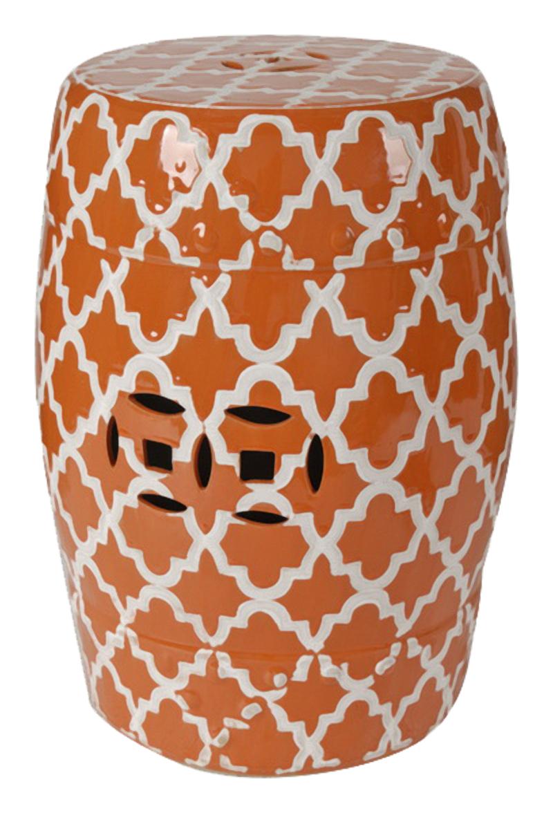 Купить Керамический столик-табурет Istanbul Stool Оранжевый в интернет магазине дизайнерской мебели и аксессуаров для дома и дачи