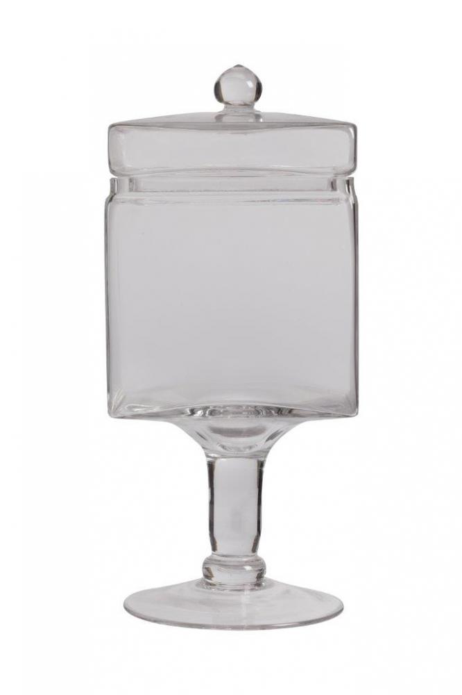 Декоративная ваза для сладостей EsbeltoКухонные принадлежности<br>Декоративная ваза для сладостей Esbelto изготовлена <br>из прозрачного стекла в виде бокала на ножке <br>и с крышкой. Положите в подставку сладости <br>или фрукты, и эта посуда станет прекрасным <br>украшением интерьера и одной из самых любимых <br>вещей ваших домочадцев. Подарите им хорошее <br>настроение!<br><br>Цвет: Прозрачный<br>Материал: Стекло<br>Вес кг: 1,5<br>Длина см: 12<br>Ширина см: 12<br>Высота см: 28,5