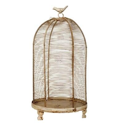 Декоративная клетка Flerentina Grande, DG-D-1120-1Декор для дома<br>Декоративная клетка Flerentina Grande изготовлена из металла, ручка декорирована маленькой птичкой, сидящей на кольце. Данный аксессуар в стиле Прованс можно использовать в зависимости от вашей фантазии в оформлении любого интерьера. Оставить её пустой или запереть что-либо внутрь, поставить на хранение — в этом вы вольны сделать свой выбор. Ясно одно, этот элемент декора однозначно привлечет внимание ваших гостей.<br><br>Цвет: Коричневый, Бежевый<br>Материал: Металл<br>Вес кг: 1.25<br>Длинна см: 24<br>Ширина см: 24<br>Высота см: 47