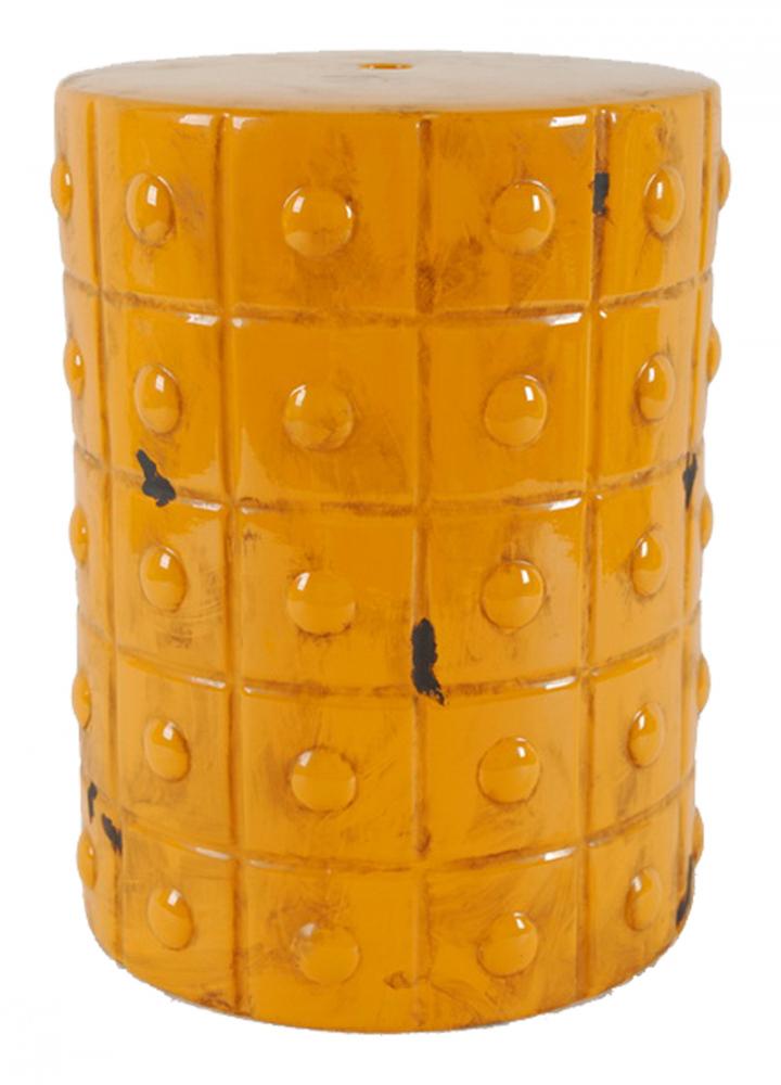 Керамический столик-табурет Mustard Stool Orange DG-HOME Это предмет мебели, который удачно сочетает  в себе сразу две функции — его можно использовать  и как стол, на который можно поставить чашку  чая и положить газету, и как табурет, на  который можно присесть. Все зависит только  от вашего желания. Примечательно, что эта  модель выполнена не из дерева, как следовало  бы ожидать, а из грубой керамики, покрытой  глазурью. Столик-табурет выполнен в оранжевом  цвете. Геометричный рельефный орнамент  делает его эффектным и интересным предметом  интерьера. Столик-табурет будет удачно  сочетаться с аналогичными предметами контрастных  цветов, будет уместен в интерьере с элементами  любого стиля. Хотите больше приятных эмоций  — купите столь необычный и яркий предмет  для своего интерьера.