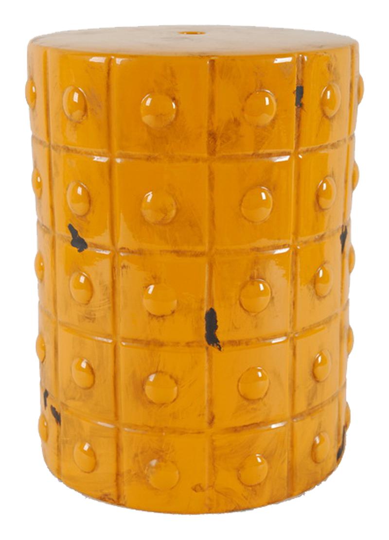 Купить Керамический столик-табурет Mustard Stool Orange в интернет магазине дизайнерской мебели и аксессуаров для дома и дачи