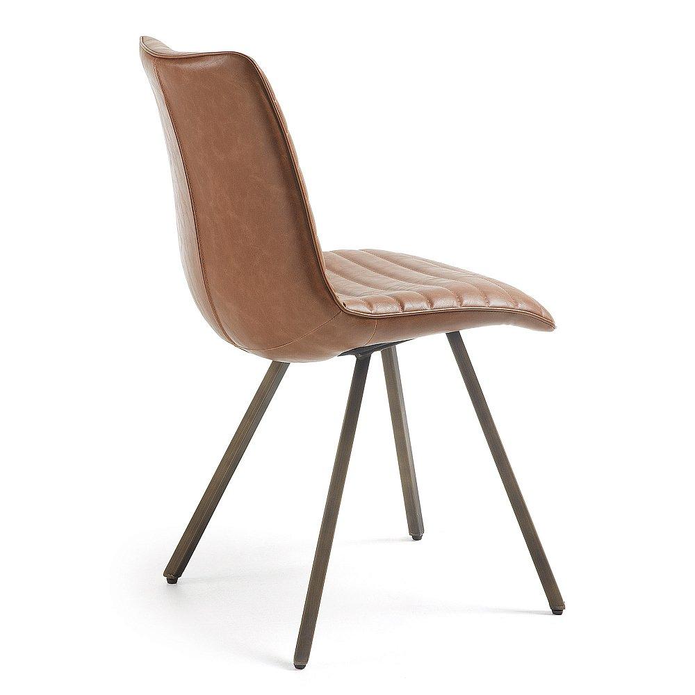 ТРАСС стул металлический щеткой PU оксидный коричневый от La Forma (ex Julia Grup)