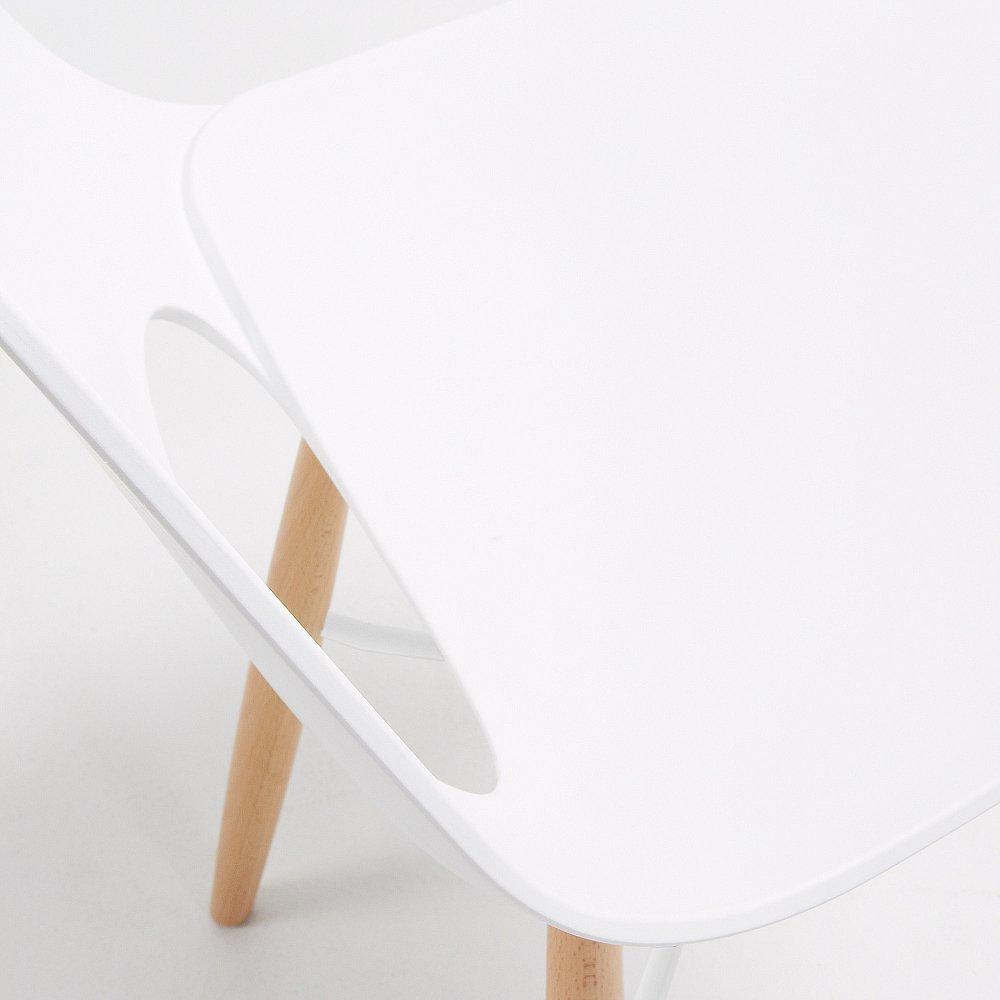 KINT стул из натурального дерева пластик белый CC0231S05 от La Forma (ex Julia Grup)