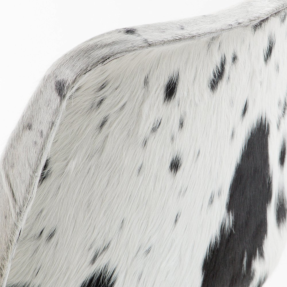 TRIBU Стул металлический кожа черный белый CC0346P60 от La Forma (ex Julia Grup)