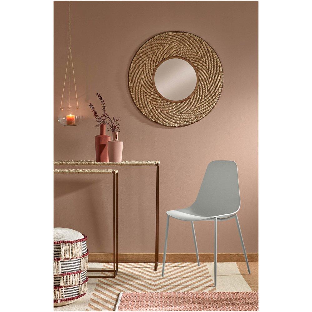 WASSU Стул металлический белый пластик белый CC0502S05 от La Forma (ex Julia Grup)