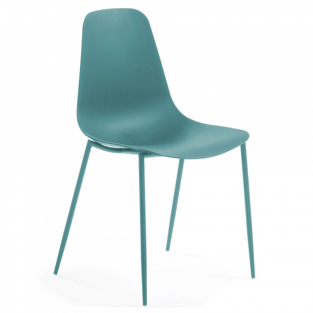 WASSU Стул металлический синий пластиковый синий CC0502S26 от La Forma (ex Julia Grup)