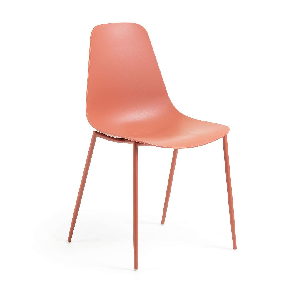 WASSU Стул металлический темно-оранжевый пластик темно-оранжевый CC0502S28 от La Forma (ex Julia Gru