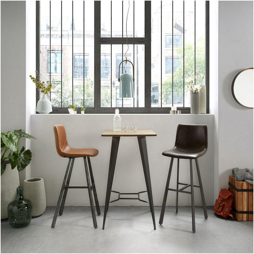 Барный стул TRAC темно-коричневый высокий от La Forma (ex Julia Grup)