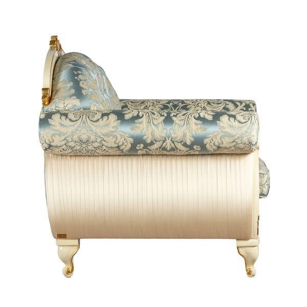 Кресло STRADIVARI светло-голубое, бежевое