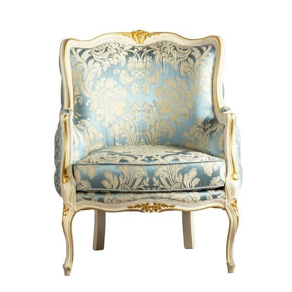 Кресло BOLERO Голубое / Бежевое