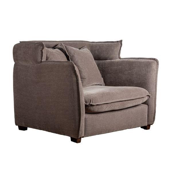 Кресло ADANA Серый / Коричневый