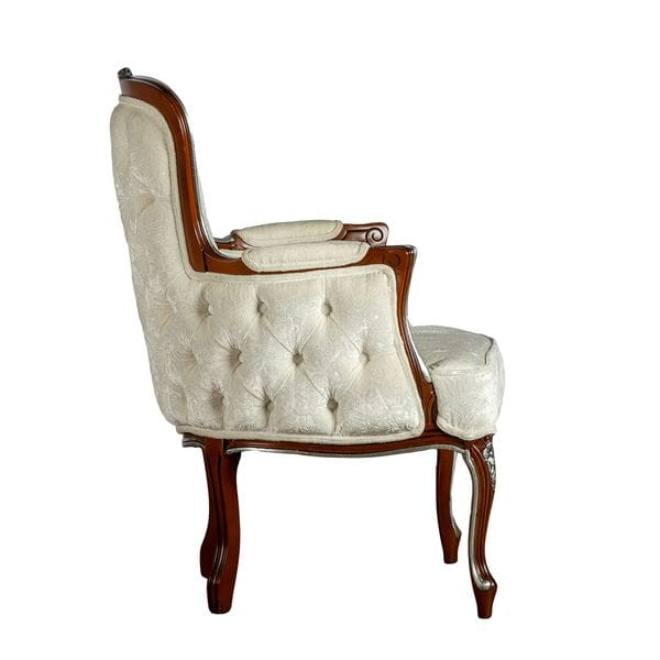 Кресло LOTTI белое / коричневое